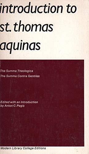 Introduction to St Thomas Aquinas#: Pegis, Anton C