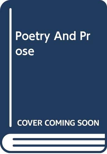 9780394309897: Poetry And Prose