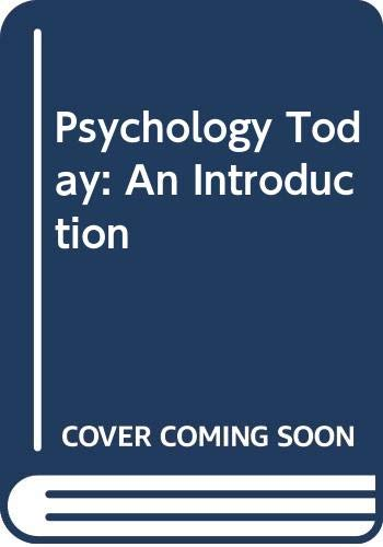 9780394310664: Psychology today: An introduction