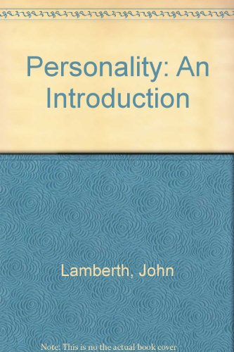9780394311906: Personality: An Introduction