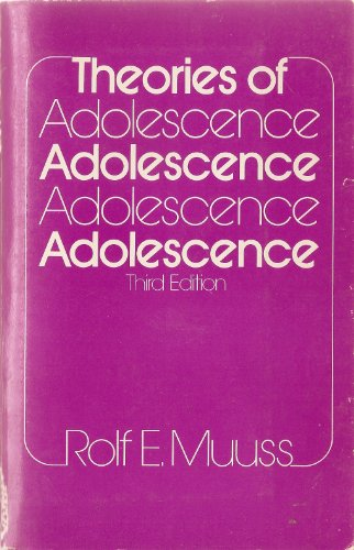 9780394318677: Theories of adolescence