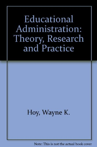 9780394319155: Educational Administration: Theory, Research and Practice
