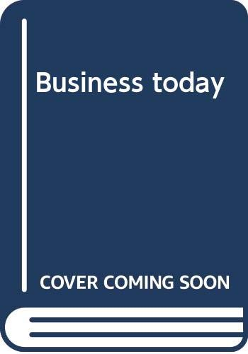 9780394320922: Business today