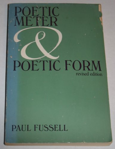 9780394321202: Poetic Meter and Poetic Form