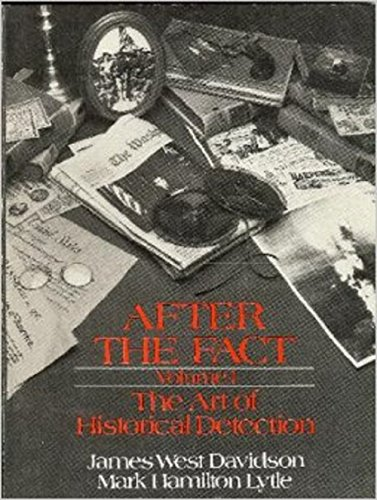 9780394321295: After the Fact: The Art of Historical Detection, Vol. 1