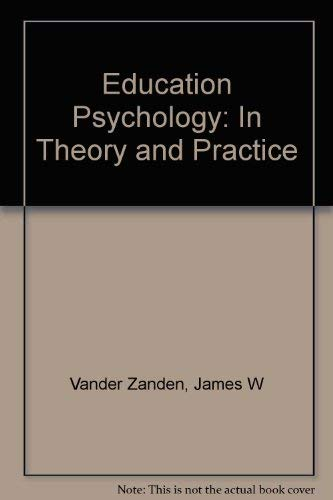 9780394321868: Education Psychology: In Theory and Practice