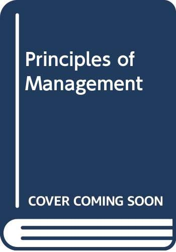 9780394322469: Principles of management