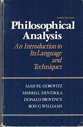 9780394322841: Philosophical analysis: An introduction to its language and techniques