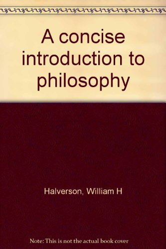 9780394325330: A concise introduction to philosophy