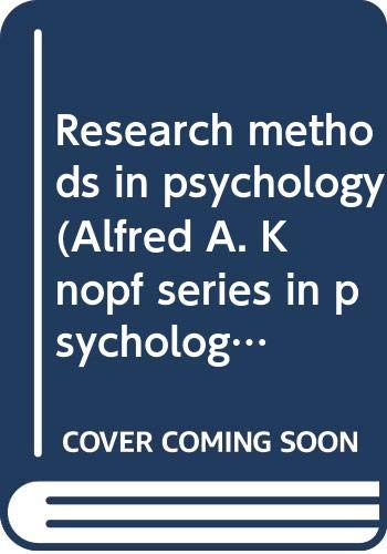 Research methods in psychology (Alfred A. Knopf: John J Shaughnessy