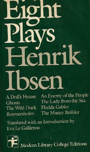 9780394328652: Eight Plays Henrik Ibsen (Modern Library College Editions)