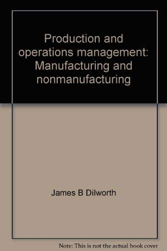 9780394328683: Production and operations management: Manufacturing and nonmanufacturing