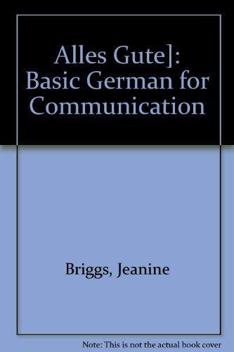 9780394328720: Alles Gute]: Basic German for Communication