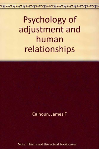 9780394329062: Title: Psychology of adjustment and human relationships