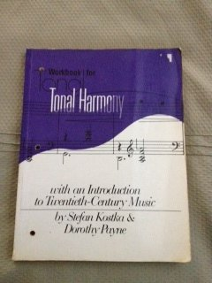 9780394329086: Workbook for Tonal Harmony with an Introduction to Twentieth-Century Music Edition: First