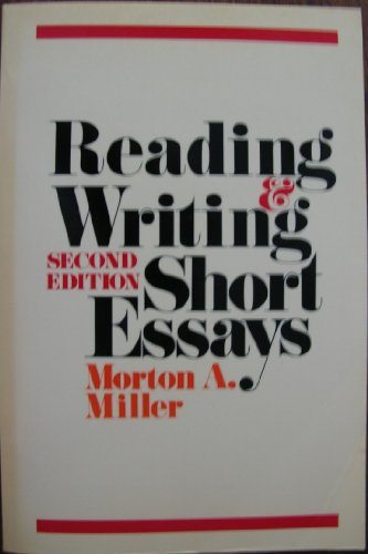 9780394330099: Reading and Writing Short Essays