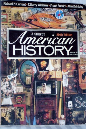 9780394330808: American History: A Survey, Vol. 2 (6th Edition)