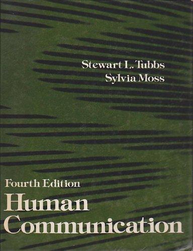9780394331010: Human communication