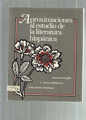 9780394331256: Aproximaciones al estudio de la literatura hispánica (Spanish Edition)