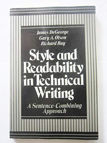 9780394331522: Style and readability in technical writing: A sentence-combining approach
