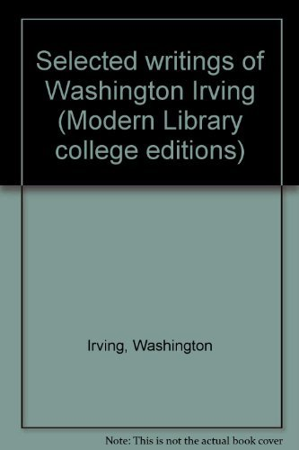 9780394331997: Selected writings of Washington Irving (Modern Library college editions)