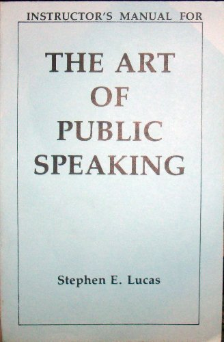 9780394332154: Instructor's Manual for The Art of Public Speaking