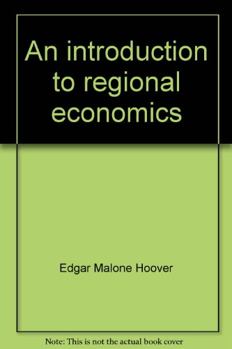 9780394334134: An introduction to regional economics