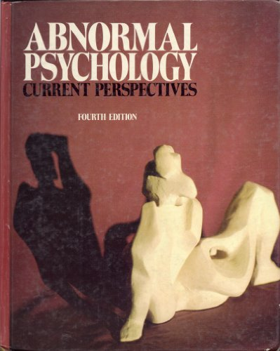 9780394334240: Abnormal psychology: Current perspectives