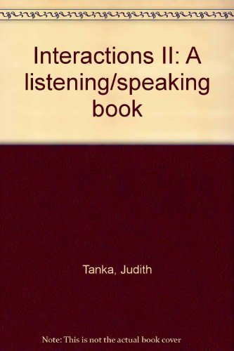 9780394337081: Interactions II: A listening/speaking book