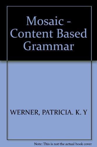 9780394337142: Mosaic - Content Based Grammar