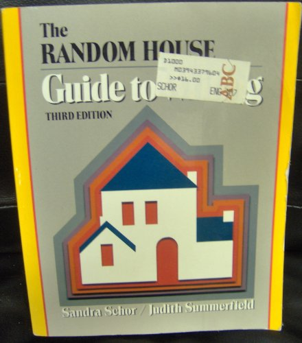 9780394337968: The Random House guide to writing