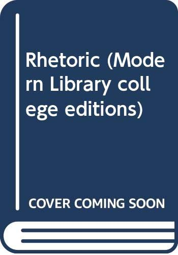 9780394339245: Rhetoric (Modern Library college editions)
