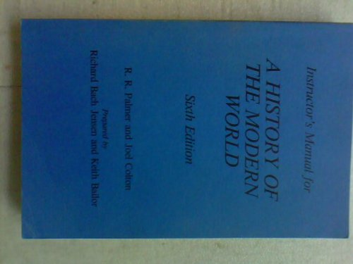 9780394339276: Instructor's manual for A history of the modern world, 6th edition [by] R.R. Palmer and Joel Colton