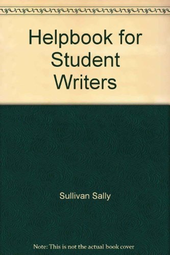 9780394339535: Helpbook for student writers