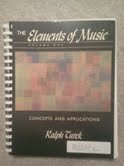 9780394339726: The Elements of Music: Concepts and Applications, Vol. 1