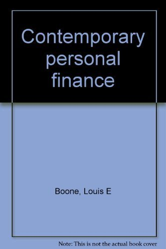 9780394342825: Contemporary personal finance