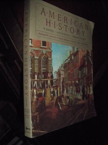 9780394343020: American History (A Survey) To 1877 (1)