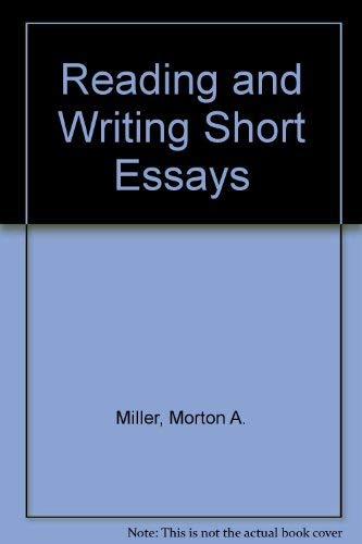 9780394343945: Reading and Writing Short Essays