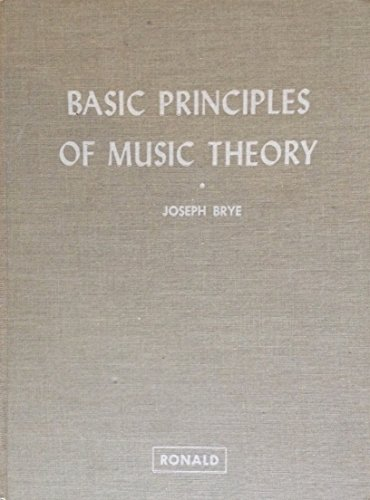 9780394344102: Basic Principles of Music Theory