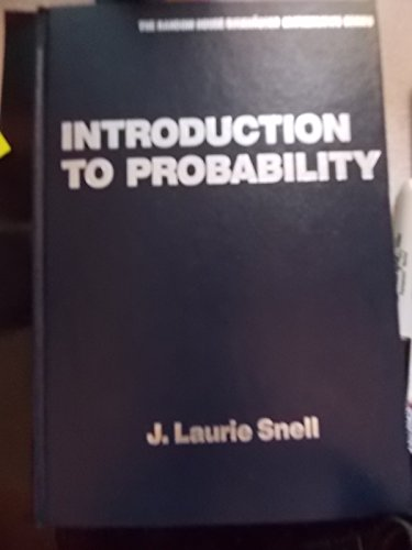 9780394344850: Introduction to Probability (The Random House/Birkhauser mathematics series)