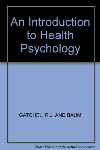 9780394348001: An Introduction to Health Psychology