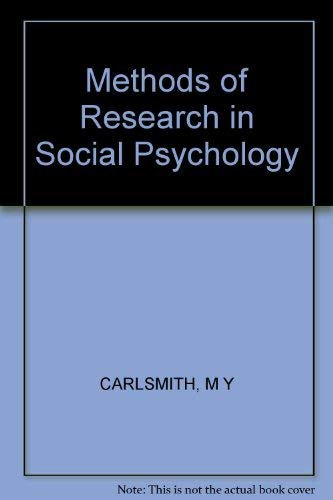 9780394348049: Methods of Research in Social Psychology