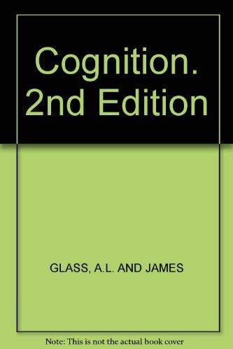9780394350578: Cognition. 2nd Edition