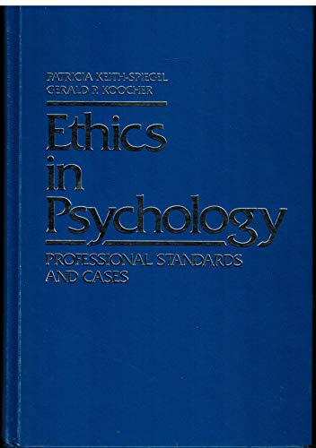 9780394350592: Ethics in psychology: Professional standards and cases
