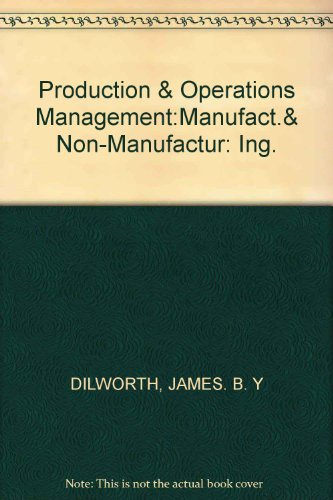 9780394351117: Production and Operations Management: Manufacturing and Non-Manufacturing