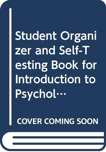 9780394352626: Student Organizer and Self-Testing Book for Introduction to Psychology, Rod Plotnik, Sandra Mollenauer