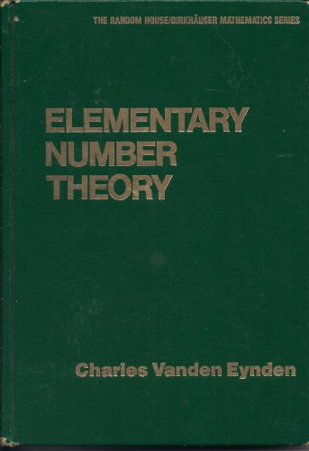 9780394353593: Elementary Number Theory (Random House/Birkhauser mathematics series)