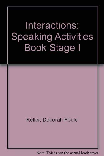 9780394353883: Interactions: Speaking Activities Book Stage I
