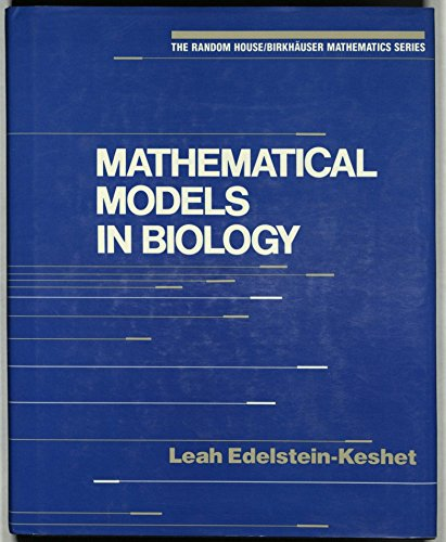 9780394355078: Mathematical Models in Biology (The Random House/Birkhauser mathematics series)