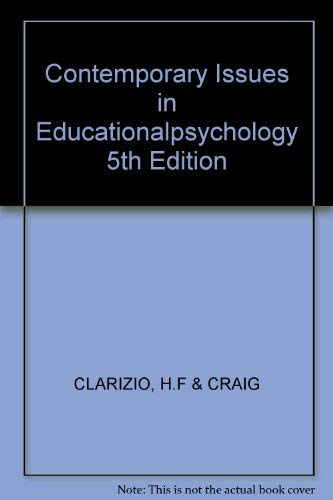 9780394356426: Contemporary Issues in Educationalpsychology 5th Edition